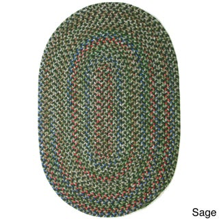 Katie Indoor/ Outdoor Reversible Braided Rug by Rhody Rug (3' x 5') - 3' x 5' (Option: Sage)