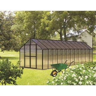 Monticello (8x24) Black Premium Greenhouse