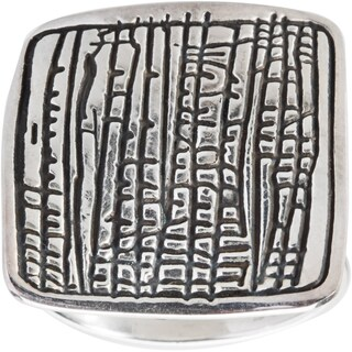 Kele & Co Sterling Silver Bamboo Imprint Ring