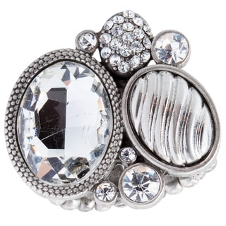 Kele & Co 'Celebrity House Wife' Resin and Crystal Cluster Ring