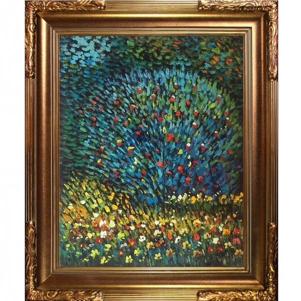 Gustav Klimt Apple Tree I Hand Painted Framed Canvas Art