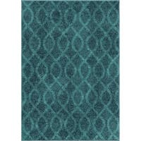 Clay Alder Home Lovejoy Coil Blue Area Rug