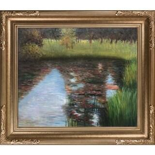 Gustav Klimt The Swamp Hand Painted Framed Canvas Art
