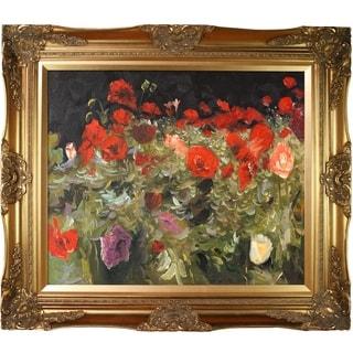 John Singer Sargent Poppies Hand Painted Framed Canvas Art