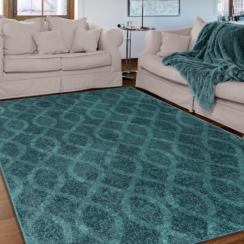 "Porch & Den Lovejoy Coil Blue Area Rug - 6'7"" x 9'8"""