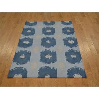 Durie Kilim Sky Blue Oriental Rug (3'1 x 5'2)