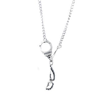 Handcuff and Mask Charm Necklace
