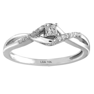10k White Gold 1/5ct TDW Diamond Promise Ring (H-I, SI1-SI2)