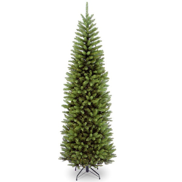 7.5-foot Fir Hinged Pencil Slim Tree - 7.5'. Opens flyout.