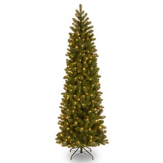 Feel-Real' Down Swept Douglas Fir Pencil Slim Hinged 7.5-foot Tree with 350 Clear Lights|https://ak1.ostkcdn.com/images/products/9558608/P16740160.jpg?impolicy=medium
