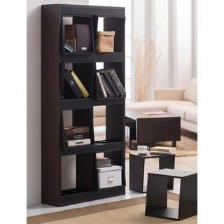 Furniture of America Fairchild Espresso Portable 8-Box Display Shelf