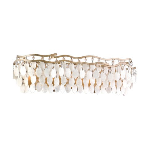 Corbett Lighting Dolce 5-light Champagne Leaf Bath Light