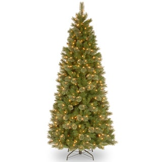 Tacoma Pine Slim Hinged 7.5-foot Tree with 500 Clear Lights