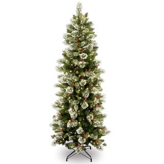 Wintry Pine Slim Hinged 7.5-foot Tree with 400 Clear Lights