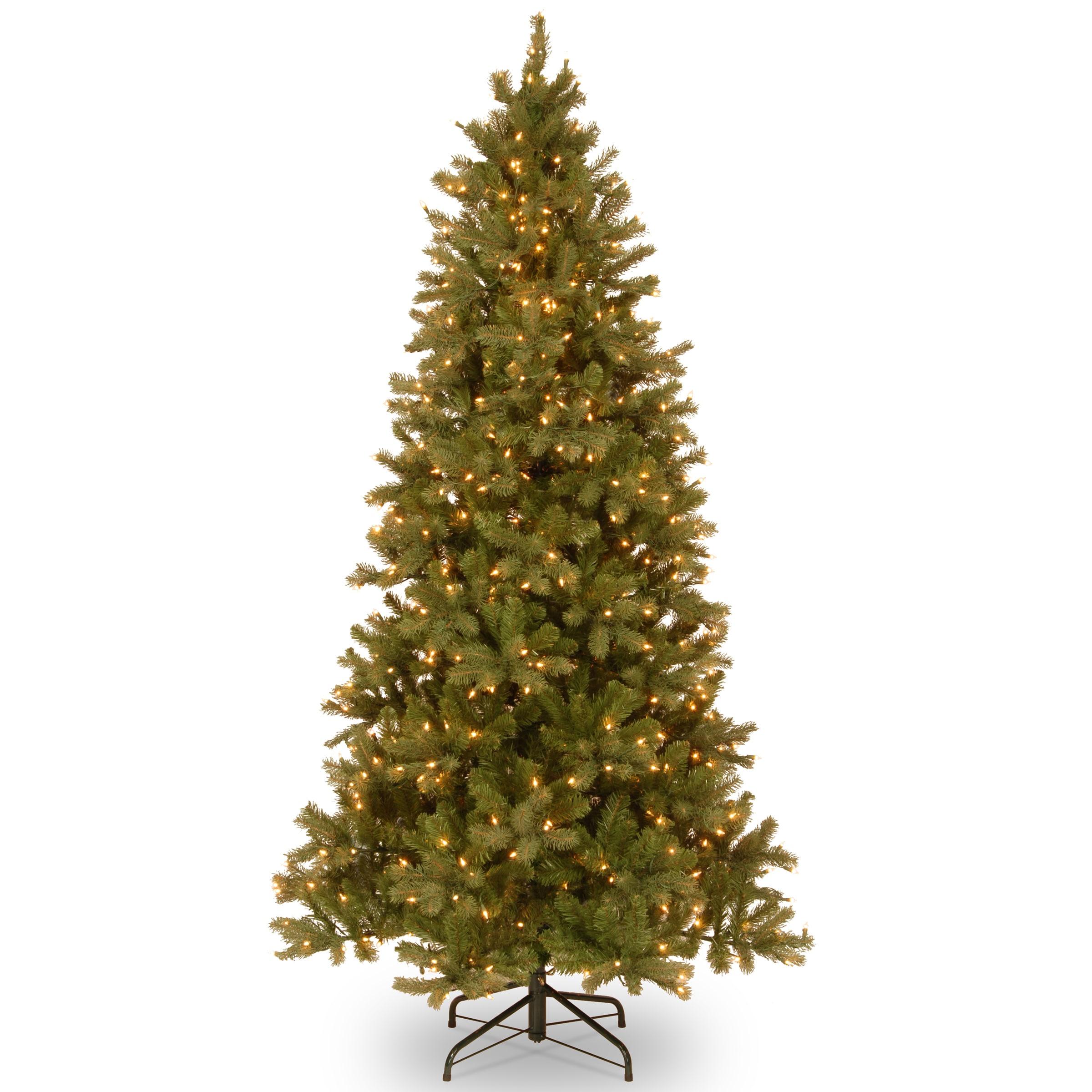 National Tree Feel-Real Down Swept Douglas Slim Fir Hinge...