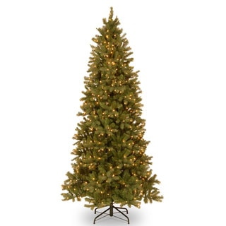 Feel-Real' Down Swept Douglas Slim Fir Hinged 9-foot Tree with 800 Clear Lights-UL-Special Version