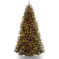 9-foot North Valley Spruce Hinged Tree with 700 Clear Lights