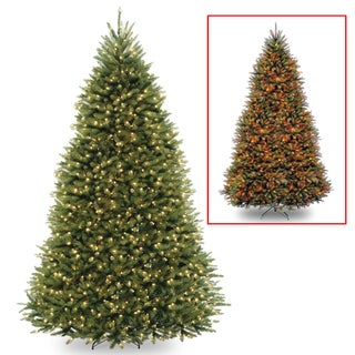 Dunhill Fir Hinged 10-foot Tree with 1200 Low Voltage Dual LED Lights with 9-function Footswitch
