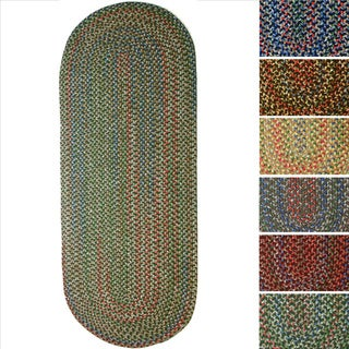 Rhody Rug Katie Indoor/ Outdoor Reversible Braided Rug (2' x 8')