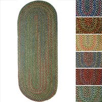 Rhody Rug Katie Indoor/ Outdoor Reversible Braided Rug (2' x 8') - 2' x 8'