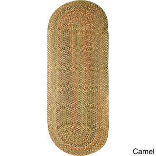 Rhody Rug Katie Indoor/ Outdoor Reversible Braided Rug (2' x 6') - 2' x 6' (Option: Camel)