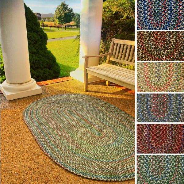 Katie Reversible Indoor/ Outdoor Braided Rug by Rhody Rug (8' x 11') - 8' x 11'