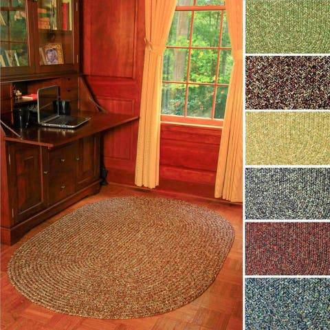 Rhody Rug Sandi Indoor/ Outdoor Reversible Braided Rug (4' x 6') - 4' x 6' Oval