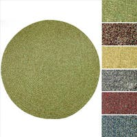 Rhody Rug Sandi Indoor/ Outdoor Reversible Braided Rug (4' Round) - 4'