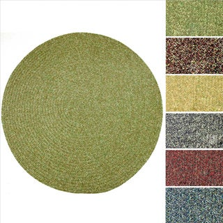 Rhody Sandi Indoor/ Outdoor Reversible Braided Rug (4' Round)