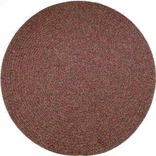Rhody Rug Sandi Indoor/ Outdoor Reversible Braided Rug (4' Round) - 4' (Option: Sangria)