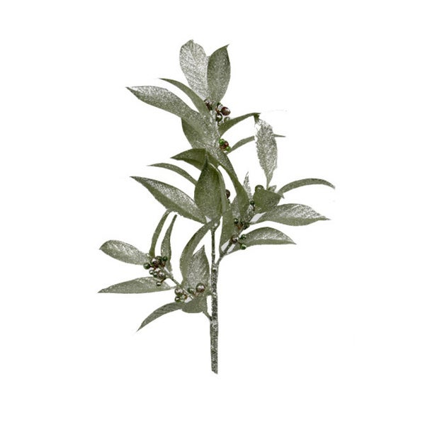 Sage & Co Sage & Co. 15-inch Glittered Berry Leaf Sprays (Pack of 24)
