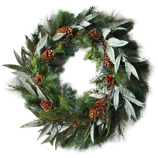 Sage & Co. 24-inch Pine/ Eucalyptus/ Juniper Wreath