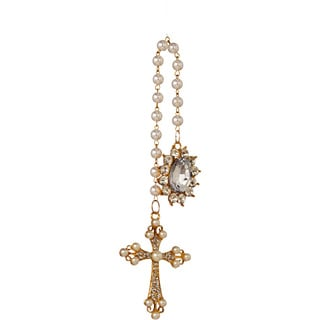 Sage & Co Sage & Co. Pearl Cross 7-inch Christmas Ornament (Pack of 12)