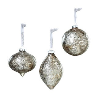 Sage & Co 6-inch Glass Ornaments (Set of 2)