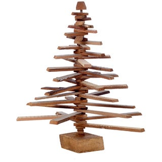 Sage & Co Sage & Co. 24-inch Wood Slat Spiral Christmas Trees (Set of 2)