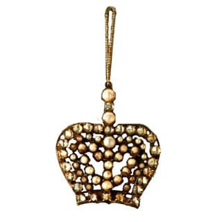 Sage & Co Sage & Co. Antique Pearl Crown Christmas Ornament (Pack of 4)