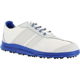 FootJoy Men's FJ Superlites CT Spikeless White/Grey/Blue Golf Shoes
