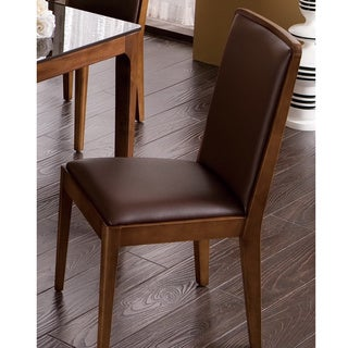 Miller Walnut Finish Dining Chair (Set of 2)