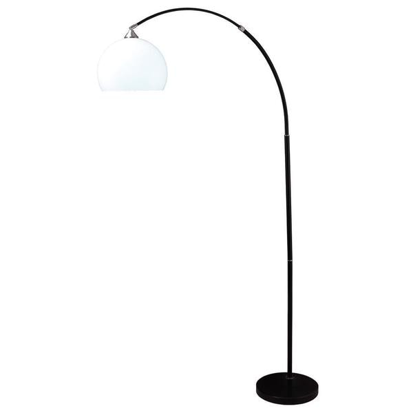 76 Inch High Modern Black Marble Base Arc Floor Lamp On Free Shipping Today 9559196