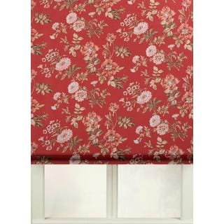 First Rate Blinds Farrell Cotton Print Flat Fold Roman Shade
