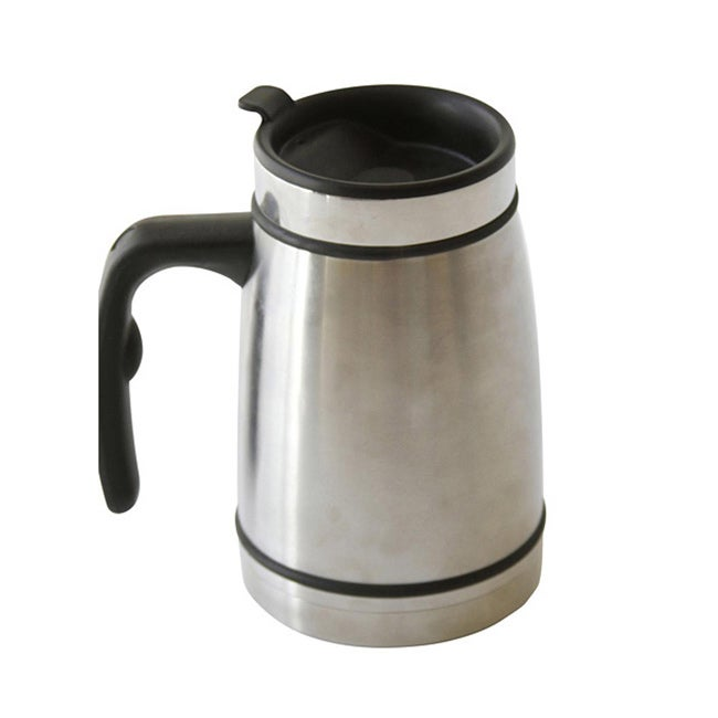 Worthy French Press Commuter Mug, Silver (Metal)