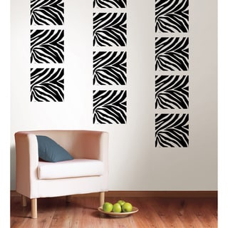 Wall Pops Go Wild Zebra Blox Decals (Pack of 12)