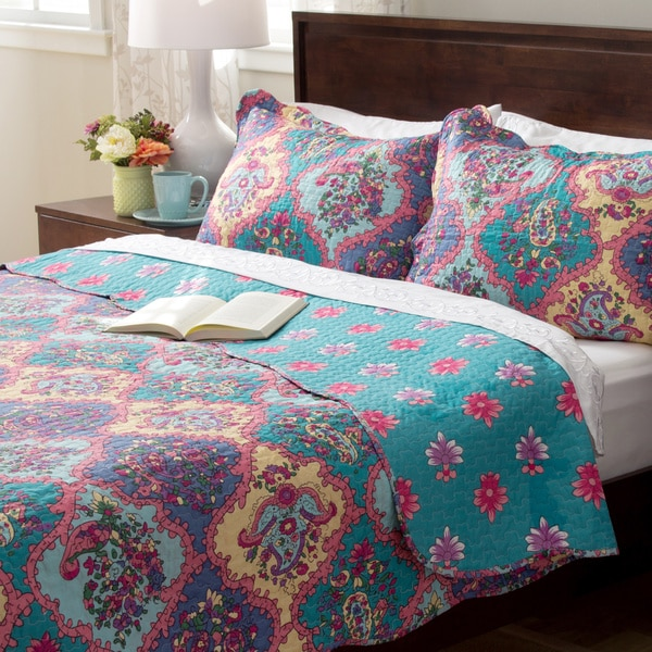 Slumber Shop Isabella 3-piece Reversible Quilt Set