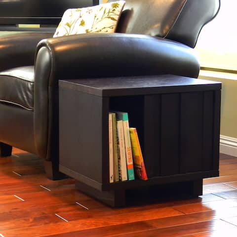 Adjustable Shelf Accent Table in Dark Birch