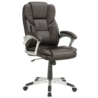 Brown Leatherette Rolling Office Chair