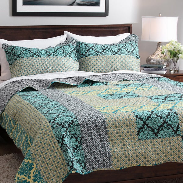 Slumber Shop Vanessa 3-piece Reversible Quilt Set