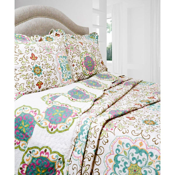Slumber Shop Candella 3-piece Reversible Quilt Set