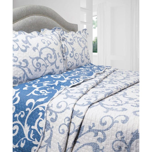 Slumber Shop Teresa 3-piece Reversible Quilt Set