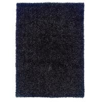 Linon Confetti Metallic Charcoal Area Rug (8' x 10')