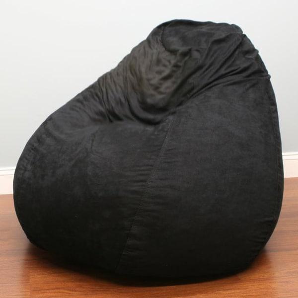 Kids Jumbo Pear Shaped Bean Bag Black